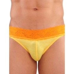 GBGB Kurt Lace Brief Underwear Yellow (T0837)