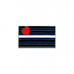 Pin Leather Flag (T1056)