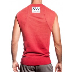 Supawear Diamond Sleeveless Sweater Dark Red (T2638)
