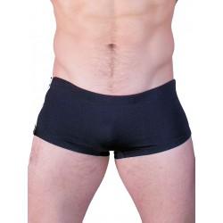 GBGB Santos Swim Boxer Swimwear Black/White Zipper (T2605)