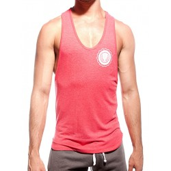 Supawear Sports Club Singlet Tank Top Red Marle (T2635)
