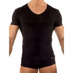 Olaf Benz V-Neck Low RED0965 T-Shirt Black (T2733)