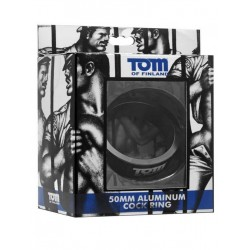 Tom of Finland Aluminum Cock Ring Black 50mm (T4282)