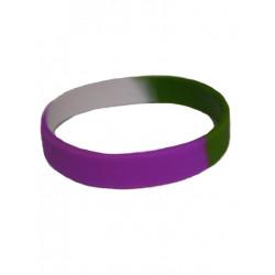 Gender Queer Bracelet Silicone / Armband schmal (T4742)