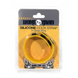 Bone Yard Silicone Cock Strap Yellow Glow (T4929)