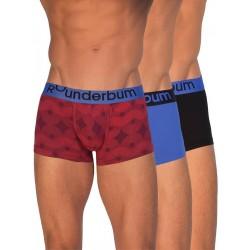 Rounderbum Lift Trunk Summer Days 3-Pack Underwear Red/Blue/Black (T4845)