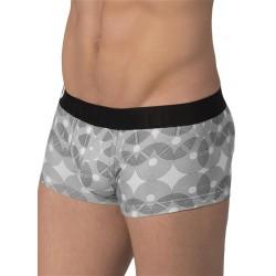 Rounderbum Lift Trunk Geometric Underwear Black (T4833)