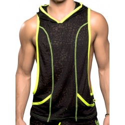 Andrew Christian Movement Gym Hoodie T-Shirt Black (T4115)