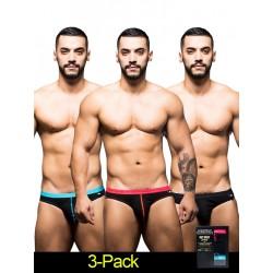 Andrew Christian Boy Brief 3-Pack Underwear Black (T5506)