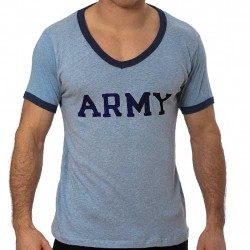 GBGB T-Shirt Ringer V-Neck Army