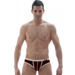 GBGB Kenji Swim Brief Swimwear Brown/White