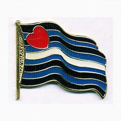 Pin Wavin Leather Flagg (T1054)