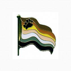 Pin Waving Bear Flag