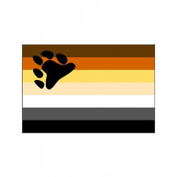 Gay Pride Bear Flag/Flagge 90 x 150 cm (T1261)