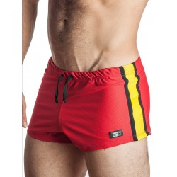 GB2 Jens Athletic Mesh Shorts Red/Yellow (T2159)