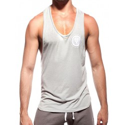Supawear Sports Club Singlet Tank Top Grey Marle (T2636)