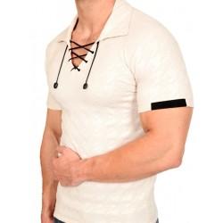 Pistol Pete Houndstooth Short Sleeve Johnny Ivory (T2675)