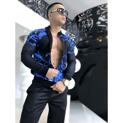 Danny Miami Crown Blue Tracksuit Multi (T5047)