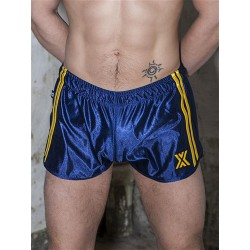 BoXer 80s Miniboxer Football Shorts Marine/Yellow (T5394)