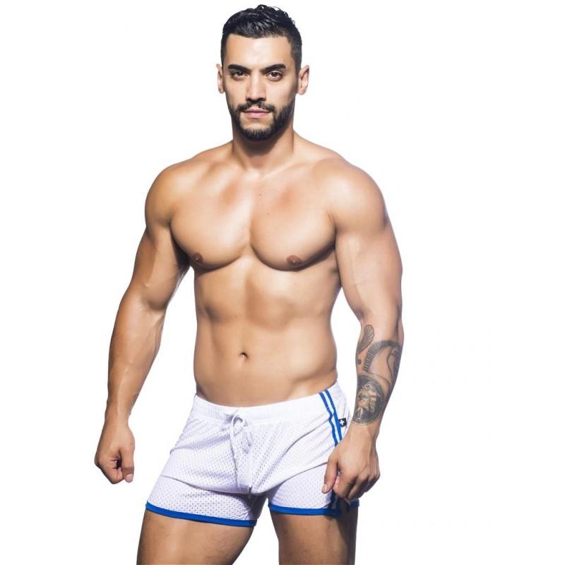 Andrew Christian Varsity Mesh Shorts White (T5468)