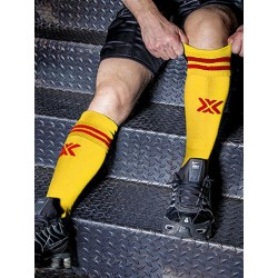 BoXer Football Sox One Size Yellow/Red (T5410)
