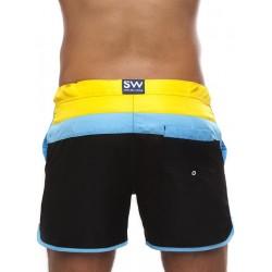 Supawear Just Supa Swim Shorts Swimwear Black/Yellow