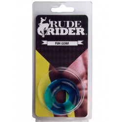 RudeRider Fat Stretchy Cock Ring Ice Blue (T6155)