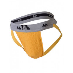 MM The Original Jockstrap Underwear Gold/Grey 2 inch (T6221)