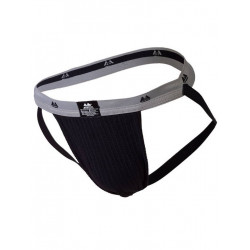 MM The Original Swimmer/Jogger Jockstrap Underwear Black/Grey 1 inch (T6218)