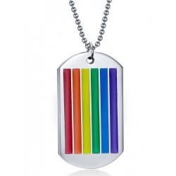Rainbow Dog Tag Halskette / Necklace