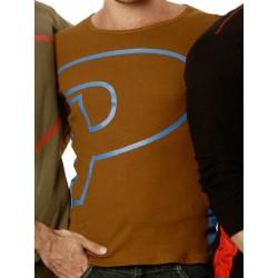 Priape P Long Sleeve T-Shirt Brown (T3277)
