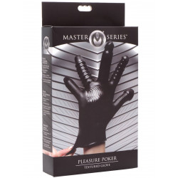 Master Series Pleasure Poker Textured Glove Black (T6343)