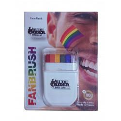 Rude Rider Pride Gear Rainbow Face Paint MakeUp Set (T6532)