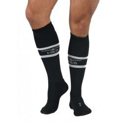 MisterB Urban Football Socks with Pocket Black (T6961)