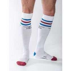 MisterB Urban Gym Socks White/Blue/Red (T6958)