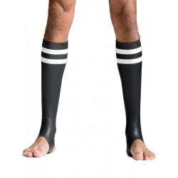Mister B Neoprene Socks Black/White Tail (T7033)