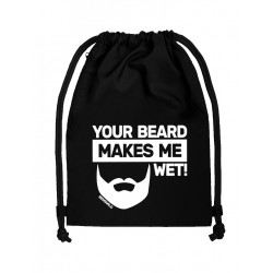 BenSWild BigBag `Your Beard Makes Me Wet!` Black/White (T7150)