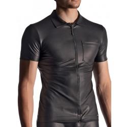 Manstore Zipped Shirt M510 T-Shirt Black (T7377)