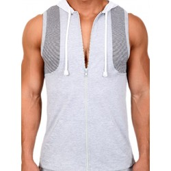 Pistol Pete Traction Zip Hoody T-Shirt Gray (T3441)
