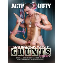 Bareback Army Grunts #7 DVD (Active Duty) (18730D)