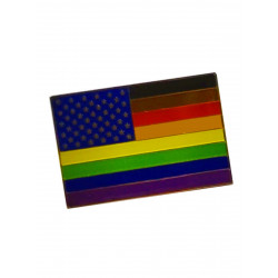 Pin Philadelphia (or POC) Flag with Stars (T7748)