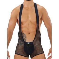 TOF Bulge Mesh Singlet Black (T7901)