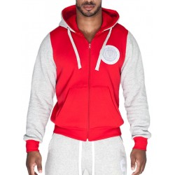 Supawear Sports Club Varsity Hoody T-Shirt Red (T3754)