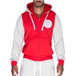Supawear Sports Club Varsity Hoody T-Shirt Red
