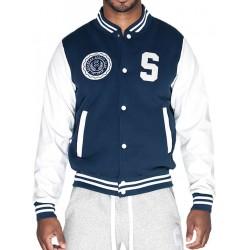 Supawear Sports Club Varsity Jacket Navy (T3755)