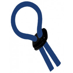 Flexi-Cockring (Hog Tie) Blue