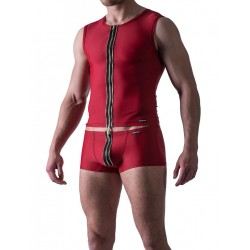 Manstore Zipped Vest M524 Underwear Red