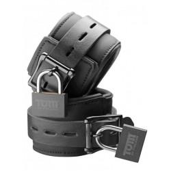 Tom of Finland Wrist Cuffs Neoprene Black With Locks (T4287)