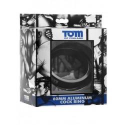 Tom of Finland Aluminum Cock Ring Black 60mm