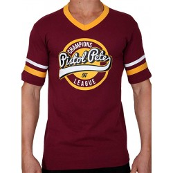 Pistol Pete Champions Short Sleeve Tee T-Shirt Red Wine